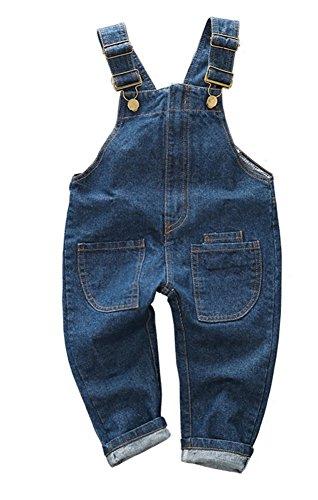 CYSTYLE 2018 Latzhose Baby Kleinkind Jungen Mädchen Jeanshose Baumwolle Tasche Jeans Hosen Baby Kinder Overall (80/Körpergröße 70-76cm)