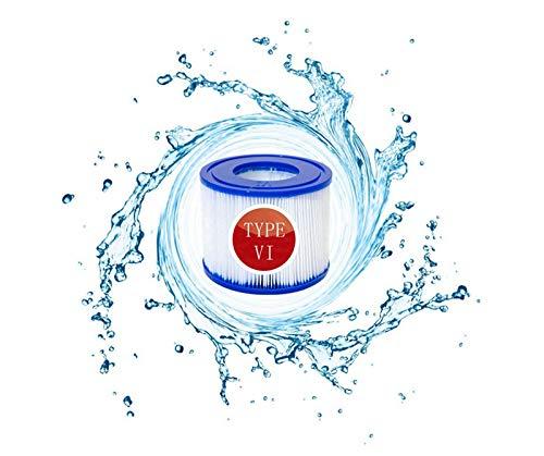 BDUCK 8 unidades VI Cartucho de filtro de piscina para Bestway Flowclear Pool Filtros de repuesto para Lay-Z-Spa Miami Vegas Monaco Tamaño 6-58323