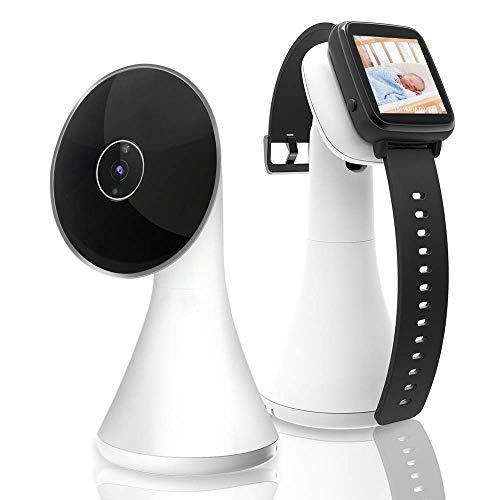 Baby Monitor con Schermo Wireless SenereLife - Doppio Sistema con Telecamera Audio Bidirezionale A Lunga Portata, Visione Notturna - Termometro e Monitor Smartwatch - SLBCAM550EU