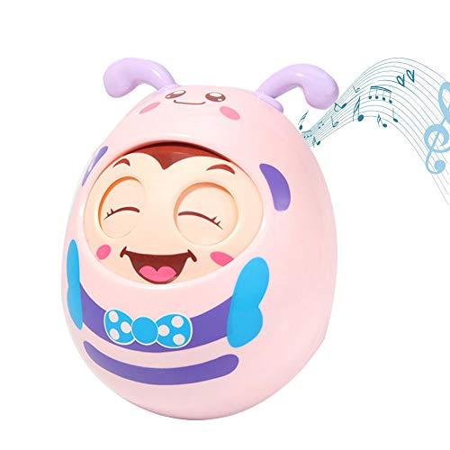 VLERHH Juguetes para Bebés, Juguetes Musicales, Sonidos Juguete para Agarrar La Mano del Bebé Juguete Educativo para El Desarrollo del Aprendizaje del Bebé - 11.5 * 9.5Cm,Rosado