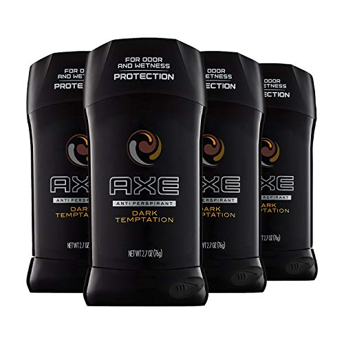 AXE Antiperspirant Deodorant 48 Hour Sweat and Odor Protection Dark Temptation Deodorant for Men 2.7 oz, 4 Count