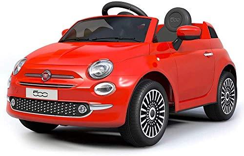 Mondial Toys Auto Macchina ELETTRICA per Bambini 12V 7AH Fiat 500 con Telecomando Rosso
