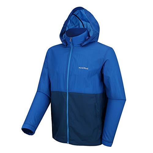 (モンベル) mont-bell トレッキングとハイキング 防風ジャケットメンズ 男性 ピーク 夏アクティブジャケット M'S PEAK WIND JACKET (ブルー, 100(L)身長~175cm) [並行輸入品]