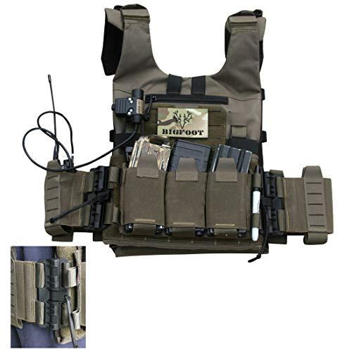 YDDY Taktische Einsatzweste mit 9 abnehmbaren Magazintasche Laser Cut Molle Taktische Weste - Oliv