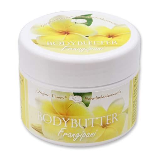 Florex Bodybutter Frangipani mit biologischer Schafmilch für intensive Feuchtigkeit bei trockener und normaler Haut 125 ml