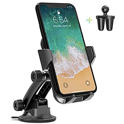 3 in 1 Cell Phone Holder for Car Dashboard Windshield Air Vent