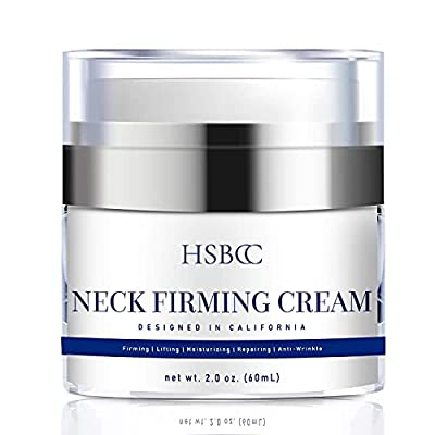 Neck Firming Cream with Peptides, Neck Cream, Double Chin Reducer Cream, Anti Wrinkle Anti Aging Neck Firming Cream, Advanced Stem Cell + Collagen Formula For Tightening & Lifting Double Chin Skin from Hsbcc