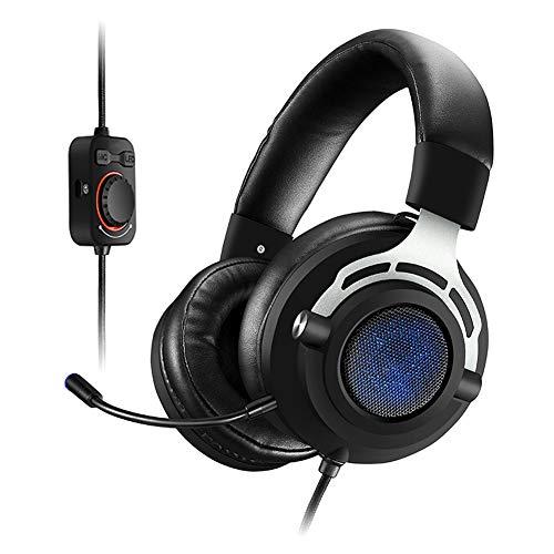Casque de jeu avec microphone, confortable 7.1 Surround Casque Over-Ear avec micro pour PS4 Nintendo Xbox One PC Laptop Mac Tablette avec suppression du bruit