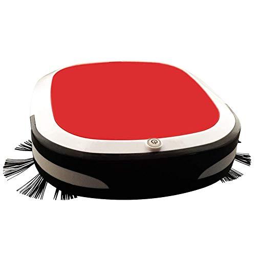 LTLJX Robot Aspiradora 7cm Fino estupendo 55dB silencioso vacío y la fregona 2 en 1 for el Pelo del Animal doméstico, alfombras, Azulejos, Suelos Duros, Rojo LUDEQUAN (Color : Red)
