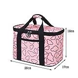 Lunch Bags Bolso del Almuerzo for Hombres y Mujeres de Picnic Grande Cooler Bag Correa de Hombro Ajustable con Aislamiento del Bolso del Almuerzo de Oficina/Escuela/Picnic (Color : Pink, Size : L)