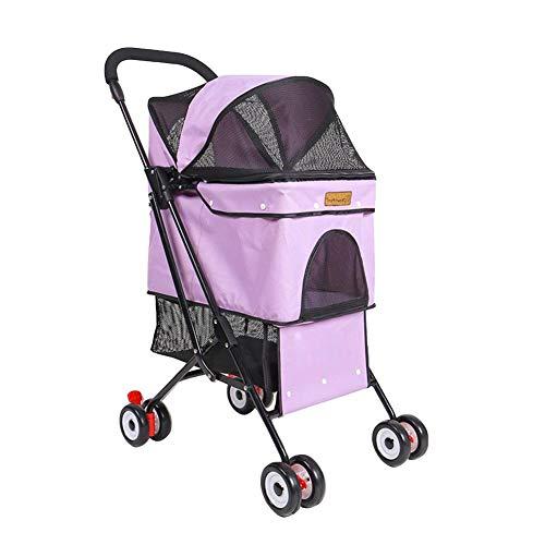 Chifans - Cochecito de 3 ruedas para mascotas, sin cremallera, plegable, para perros, perros mayores o gatos