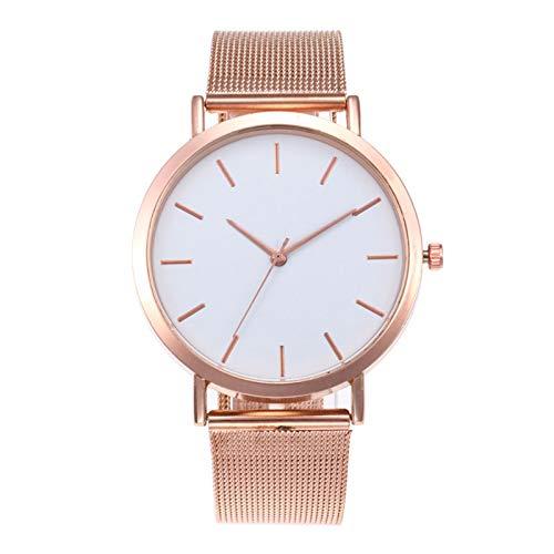 Armbanduhr Damen Uhren Schmuck Quarzuhr Analog Edelstahlarmband Muttertagsgeschenk Geburtstagsgeschenk Modische Exquisite Mesh Stahlgürtel Retro Armband Quarz Damenuhr