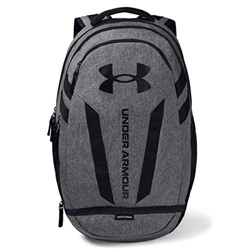 Under Armour Hustle Backpack, Black (002)/Black, One Size Fits All Alaska