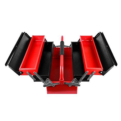 Cantilever Caja de herramientas de acero multiusos plegable,