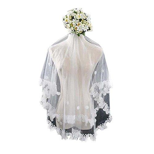 Voile de mariage blanc Voiles de tulle de mariée Elegant Women Veil # 5