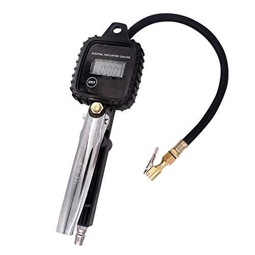 TERMALY Medidor de Presión de Neumáticos Profesional, Manguera de Medidor de Presión de Neumáticos, Pantalla Digital LCD de Alta Precisión Manómetro Electrónico de Presión de Neumáticos de Mano