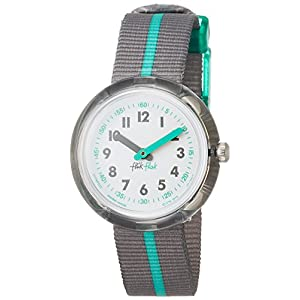 FlikFlak Boys' Quartz Watch with Textile Strap, Grey, 16 (Model: FPNP022)