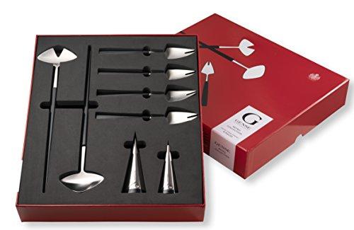 Gense Retro Collection Design Pierre Forssell Edelstahl Gabeln Set, silberfarben, 8-teilig