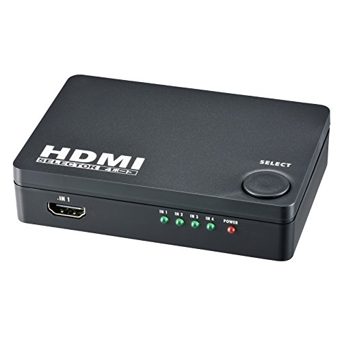 HDMIセレクター 4ポート 黒 [品番]05-0577 AV-S04S-K