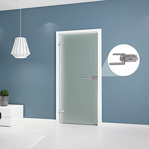 inova Tür mit Beschlag Edelstahloptik Glastür Zimmertür Glas Innentür Wohnungstür Drehtür 834x1972 satiniert...