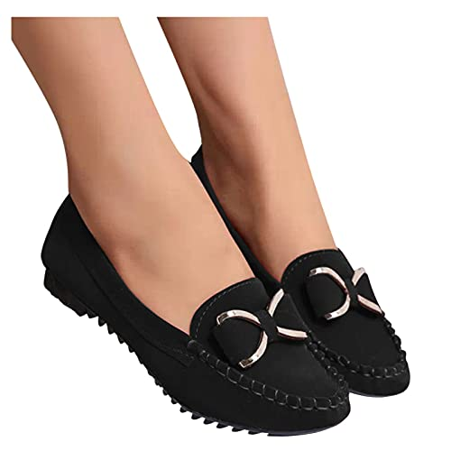 Women'S Slip On Walking Shoes Women'S Shoes Round Toe Shallow Mouth Pedal Flower Peas Shoes Casual Single Shoes