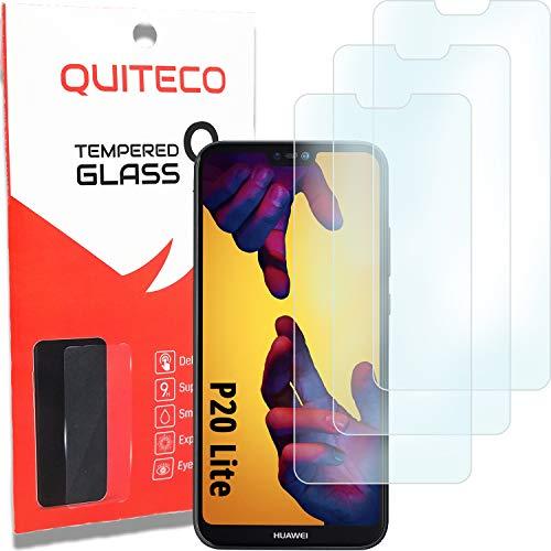 3 Pezzi, Vetro Temperato Compatibile con Huawei P20 Lite, Pellicola Prottetiva Anti Graffio, Anti-Impronte, Durezza 9H, 0,26mm Ultra Trasparente, Ultra Resistente