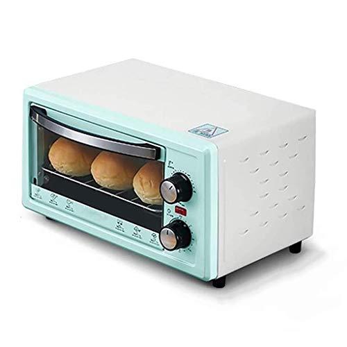 NLRHH Mini-Backofen mit Grill Rotisserie Elektro-Ofen und Heben Pakete Heben Herd Timing-Wide Area Temperaturregelung 11L (Farbe: Grün) Peng (Color : Green)