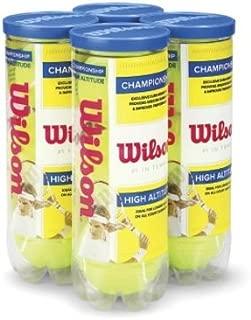 Wilson Championship High Altitude Tennis Ball (4-Pack), Yellow