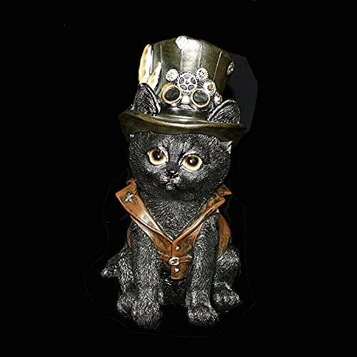IM Deko Figur Gothic Grufti Grusel Steampunk Halloween Horror putzige Katze Gothic Cat