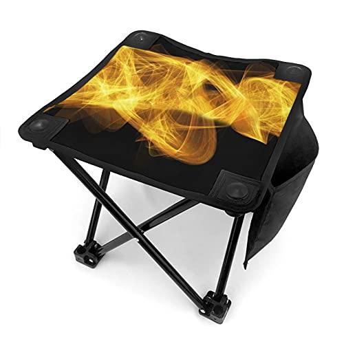 MIAOXXUAN Wave Circle Color colorido estructura portátil plegable camping taburete ligero y duradero asiento al aire libre con bolsa de transporte para pesca barbacoas viajes bosquejo