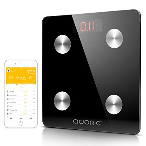 Adoric Digitale Diagnosewaage Wireless für IOS und Android (schwarz)