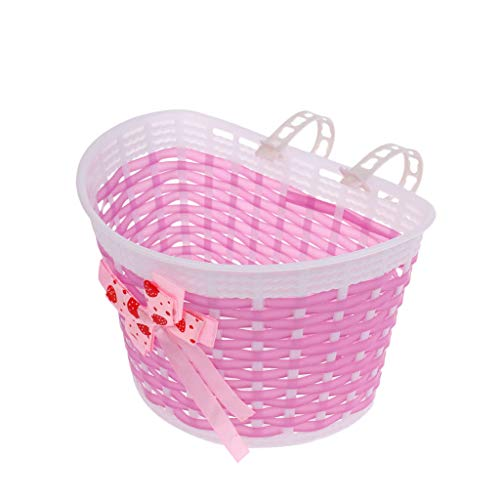 Lowest Price! Bicycle Baskets, Detachable Cycling Bicycle Accessories - Front Weave Shopping Basket,...