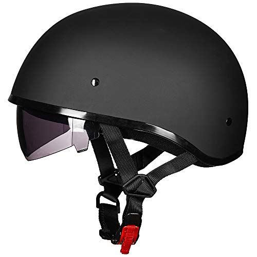 ILM Half Motorcycle Helmet with Sunshield