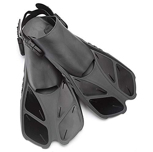 Snorkel Aletas, Patas de Rana Ajustable para bucear Buceo Hombres Mujeres Niños Abierta talón de Natación Aletas Aletas cómodo
