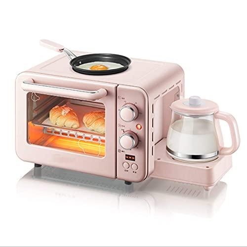 Máquina De Desayuno Horno Tostador Multifuncional Mini Horno, Máquina De Desayuno 3 En 1 Máquina Multifunción De Goteo Para El Hogar Cafetera Para Pan Horno Para Pizza Sartén Tostadora Tosta