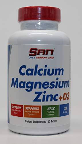 SAN Calcium Magnesium Zinc + D3, 90 Tablets