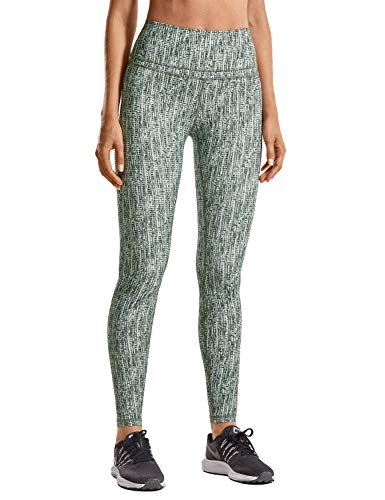 CRZ YOGA Mujer Mallas Deportivo Pantalón Elastico para Running Fitness-71cm Stripe Multi 3 38