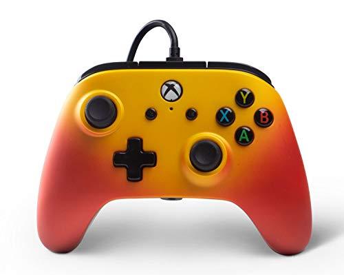 Manette filaire nouvelle version avec 2 palettes pour Xbox One - Couleur Orange