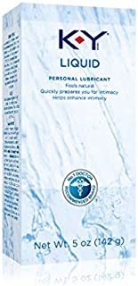 K-Y Liquid Personal Lubricant, Natural Feeling Water Based Lube For Women, Men & Couples 5oz (2 Pack)