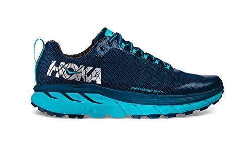 HOKA ONE ONE Women's Challenger ATR 4 - Poseidon Bluebird Poseidon/Bluebird Nylon Running Shoes 7...