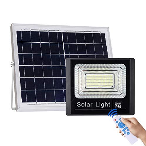 MG REAL Luces Reflector Solar 120W LED Al Aire Libre Inundación Seguridad, IP66 A Prueba De Agua, Paisaje del Proyector De Iluminación Solar para La Plataforma De Iluminación