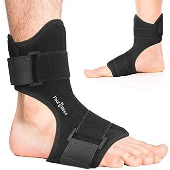 Plantar Fasciitis Night Splint - Drop Foot Support Brace - Dorsal Planter Fasciitis Splints for Right or Left Foot Support Sleep Arthritis Tendonitis Dorsal Heel Calf Stretcher Men + Women