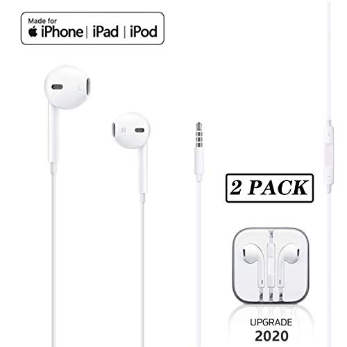 【2Pack】Wired Earphones For iPhone In-Ear Earbuds with 3.5mm Headphones...