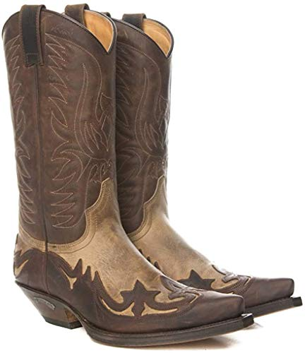 Sendra Boots Bota Western 3241 Cuervo Flora/Sprinter (39 EU, MADDOG/Sprinter 7004)