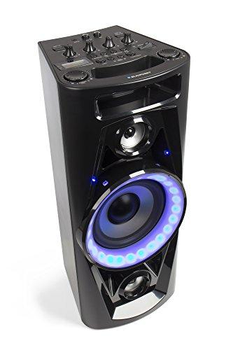 BLAUPUNKT PSK 1652 Party Lautsprecher, Speaker mit USB, Bluetooth für Musikstreaming, Aux In, UKW Radio, Gitarren und Mikrofon Anschluss, Musikbox mit Beleuchtung