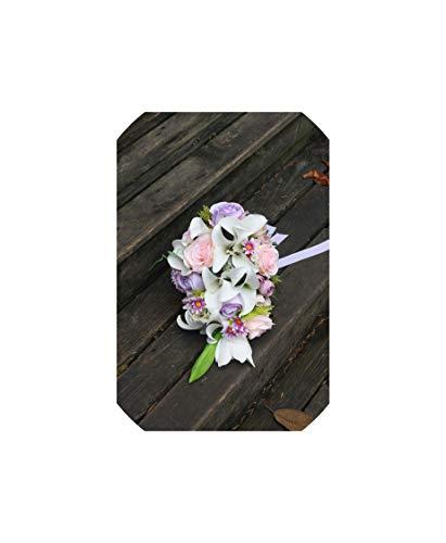 Rose Lila Wedding Bouquets Wasserfall Künstliche Blumen-Brautsträuße Brautsträuße, selben wie Abbildung