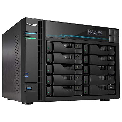 Preisvergleich Produktbild ASUSTOR AS6510T 10 BAHIAS Atom C3538 Quad CORE DENVERTON 2.1GHZ 8GB 2x2.5GBE 2x10GBE RAID 0, 1 JBOD SATA6GB USB 3.0