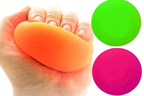 JA-RU Stretchy Balls Stress Relief (Pack of 2) Soft Stress Toys for Kids Pull / Stretch. Stress Balls for Adults Anxiety Hand Therapy or Sensory Fidget Relaxing Toy . Plus 1 Ball | 401-2p
