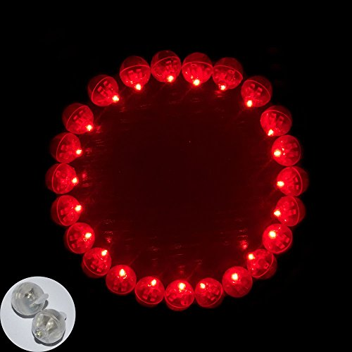 Neo LOONS 100pcs/lot 100 X Red Round Led Flash Ball Lamp Balloon Light long standby time for Paper Lantern Balloon Light Party Wedding Decoration