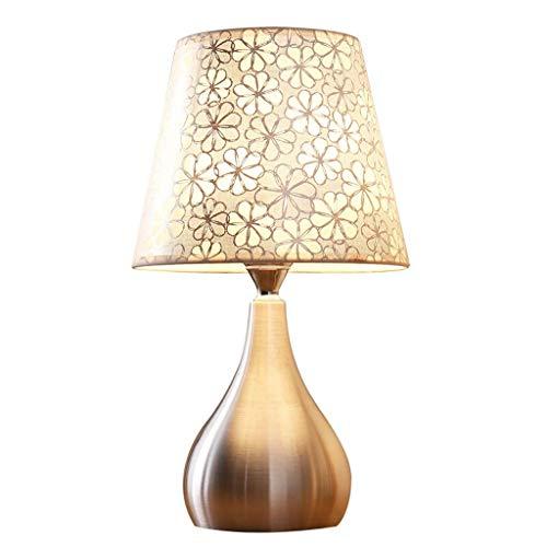 YNHNI Lámpara de Mesa de Dormitorio Lámpara de Noche Moderna Minimalista Lámpara de Mesa LED Lámpara Noche Lámpara Lámpara Pulsador Interruptor-3 Watt Sin LED Strobe (Color : B)